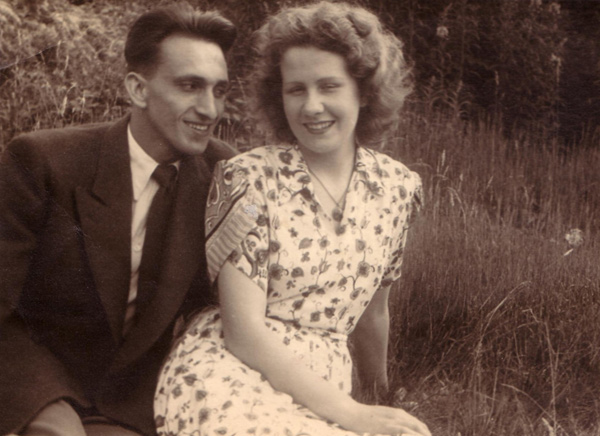 Ted with his first wife-1950s
